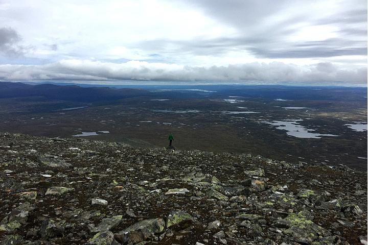 58 Grad Nord - Gipfelbesteigung Helgas - fast freie Sicht!