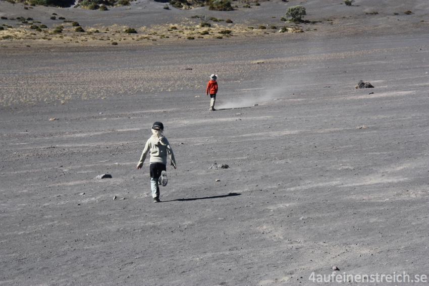 Toben im ehemaligen Vulkan.