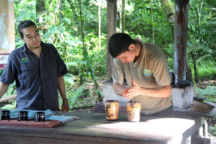 Hier werden die Kakaogetränke zubereitet