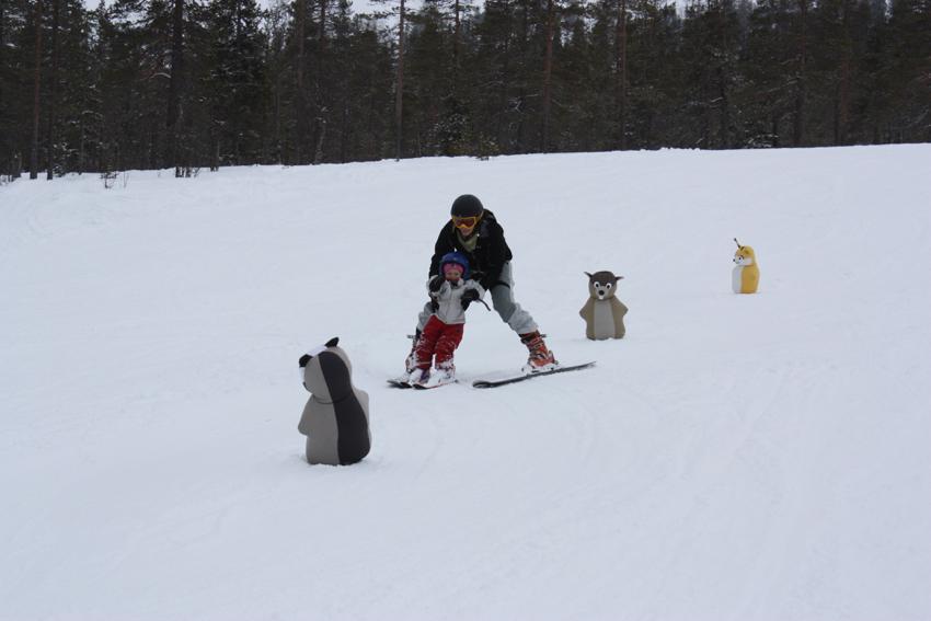 Skifahren in Schweden - Früh übt sich!