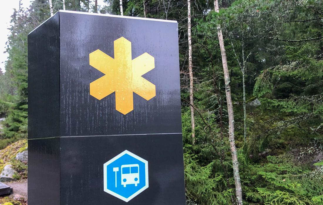 58GradNord Tiveden Nationalpark Bushaltestelle