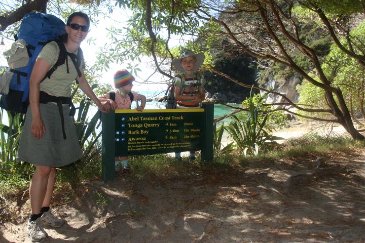 58GradNord Abel Tasman Mit Kindern wandern Startpunkt