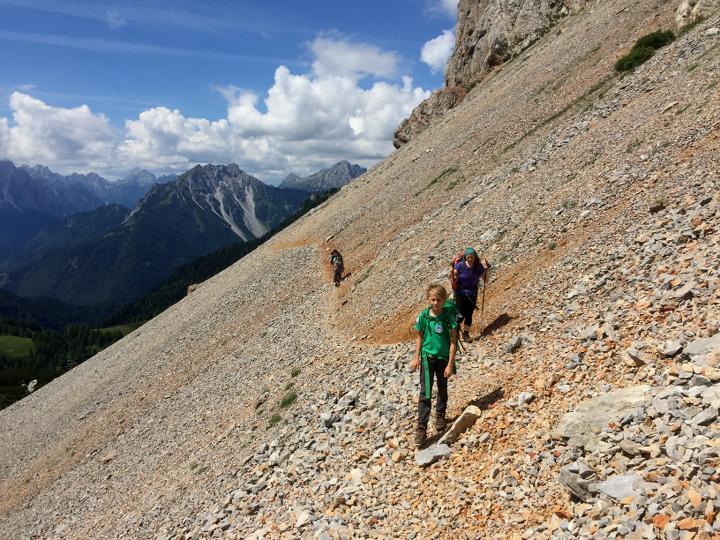 58GradNord - Karnischer Höhenweg - Geröllfelder