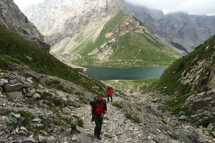 58GradNord - Karnischer Höhenweg - letzter Anstieg