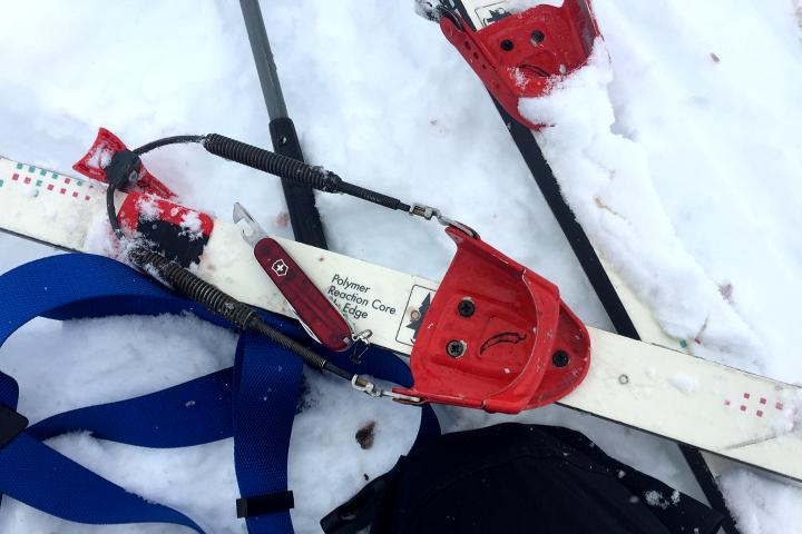 58 Grad Nord - Kungsleden im Winter - Bindung kaputt