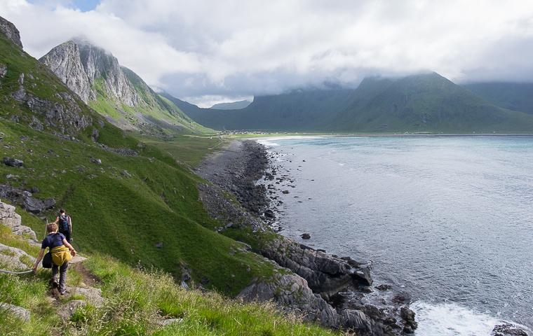 58GradNord - Mit Kindern wandern Nordnorwegen Lofoten - Eggum Unstad