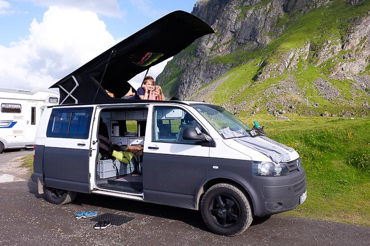 Norwegen mit Kindern - Lofoten Roadtrip - Eggum VW Camper