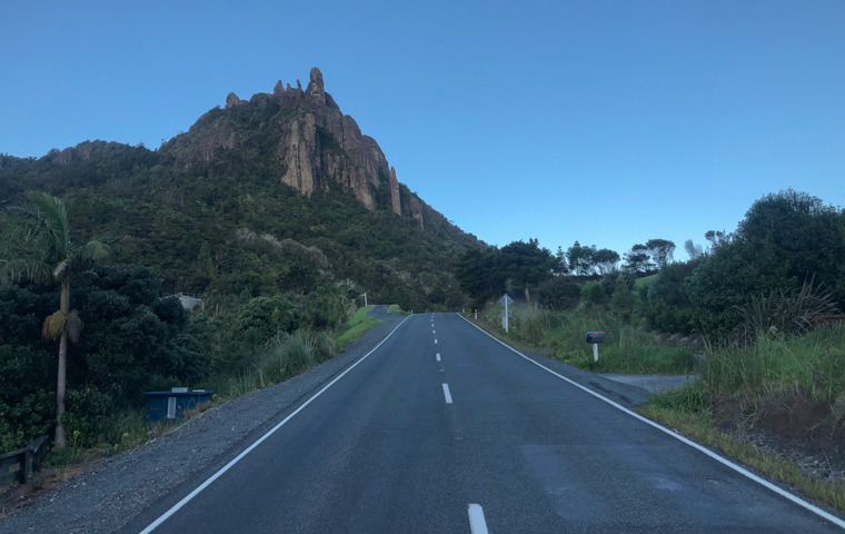 58 Grad Nord - Familienauszeit Neuseeland - Whangarei Heads - Mount Mania am Abend