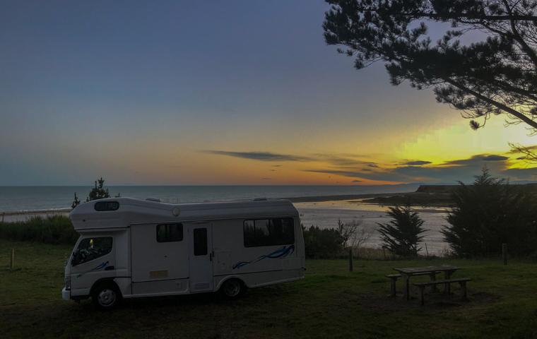 58 Grad Nord - Neuseeland im Herbst - Campsite Hakatere