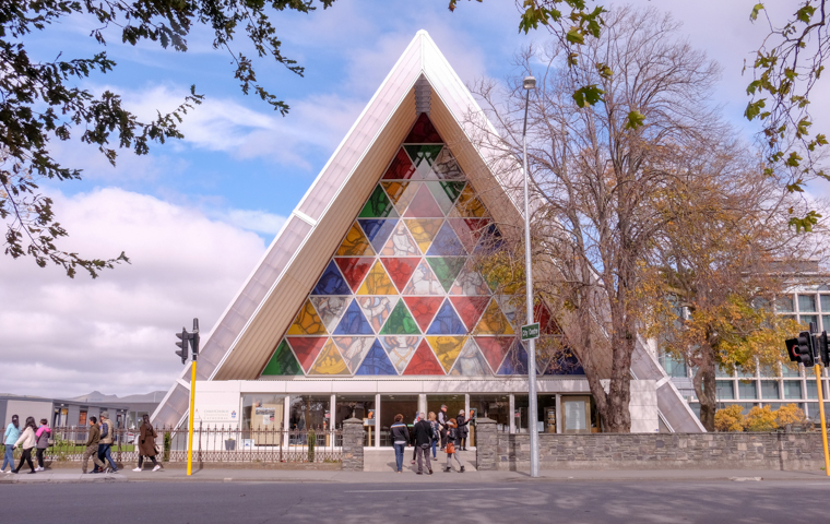 58 Grad Nord - Christchurch mit Kindern - Carboard Cathedral