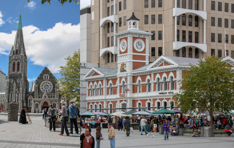 58 Grad Nord - Christchurch mit Kindern - Christchurch Cathedral Square