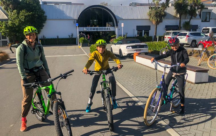58 Grad Nord - Christchurch mit Kindern - Fahrradfahren