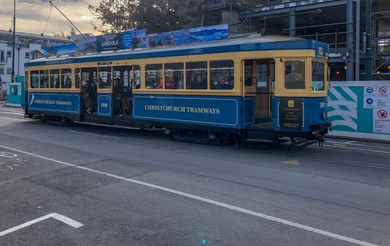 58 Grad Nord - Christchurch mit Kindern - Tram 2018