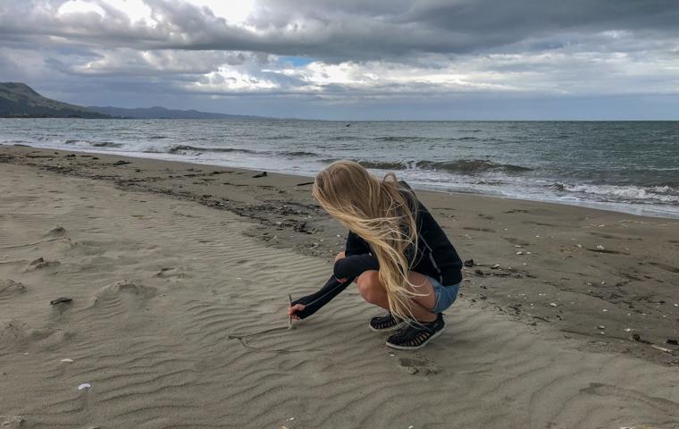 rad Nord - Neuseeland - Golden & Tasman Bay - Collingwood Beach