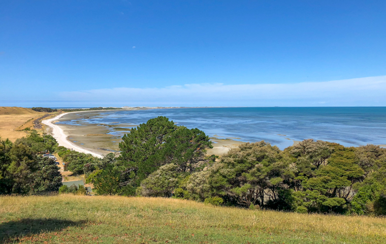 rad Nord - Neuseeland - Golden & Tasman Bay - Farewell Spit View