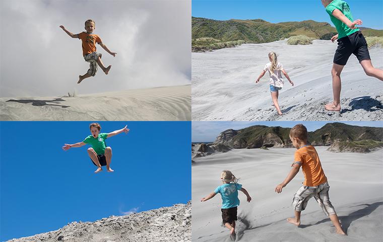 rad Nord - Neuseeland - Golden & Tasman Bay - Wharariki Beach - Now and Then