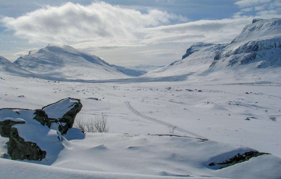 58 Grad Nord -Skiwandern mit Kindern in Lappland - Kungsleden Singi
