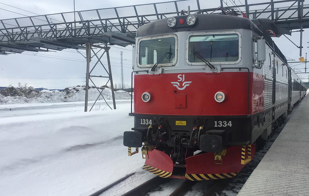 58 Grad Nord -Skiwandern mit Kindern in Lappland - Zug SJ